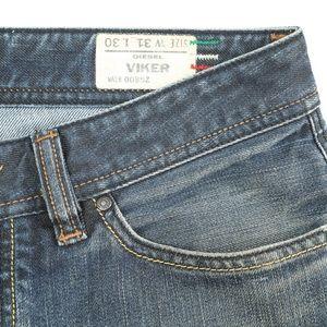 Diesel Viker Italian Button Fly Straight Leg Jeans